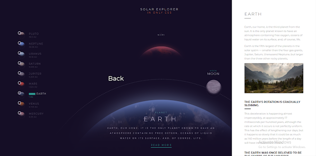 Solar System Explorer  HTML and CSS Script Free Download, In this article i will Give u Free website Script for the Website. this script are Solar System  Explorer Information script all planets information are available here. you can easily intall this script in your Cpanel