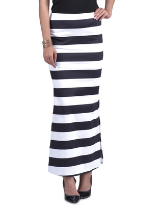 576156d29 A Rat's Nibble: Black And White Striped Maxi Skirt
