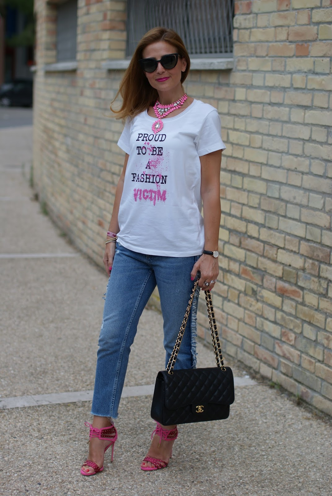 Wearing jeans with heels on Fashion and Cookies fashion blog, fashion blogger style