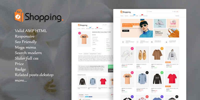 Shopping AMP HTML v1.2 Responsive Blogger Template