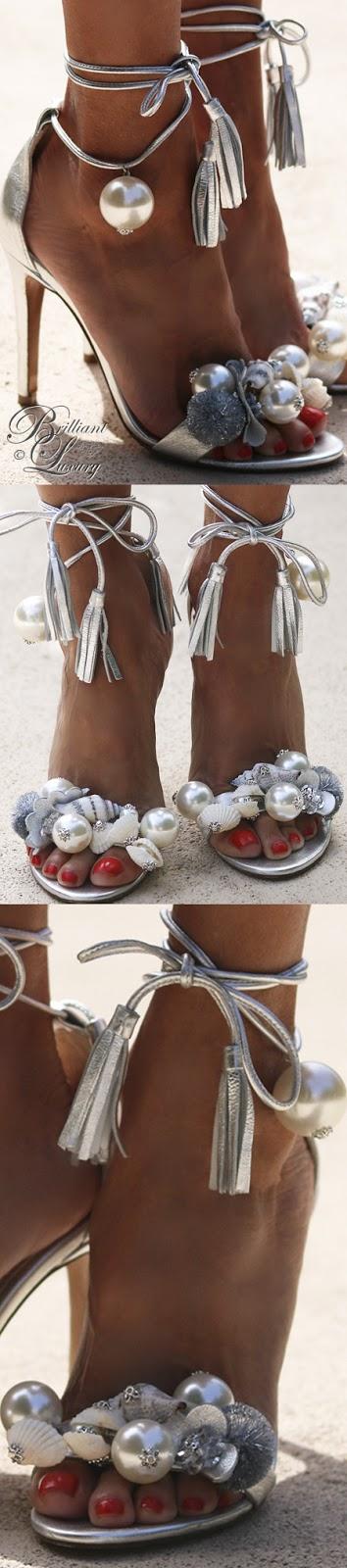 Brilliant Luxury ♦ Alameda Turquesa Dona Ana sandals golden