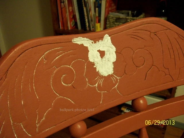 rocker with paint