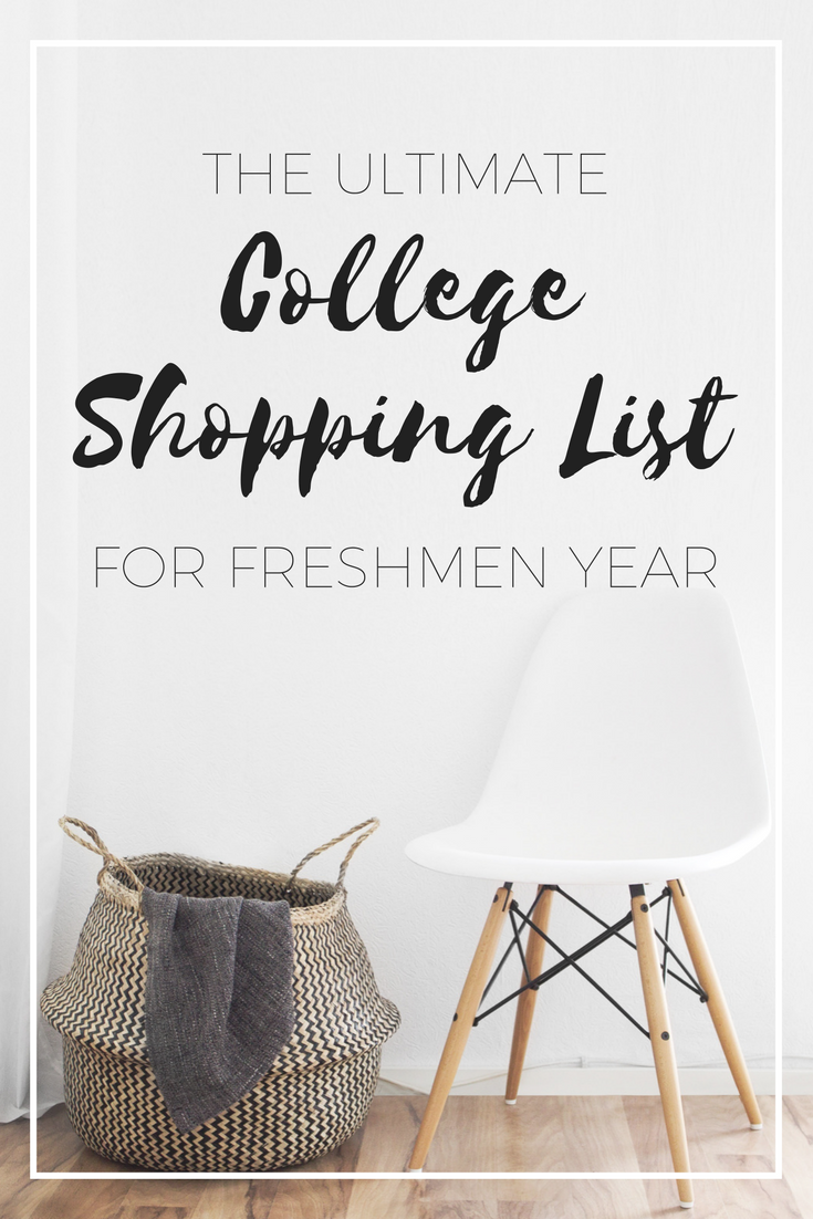 College dorm shopping doesn't have to be expensive, which is why I created this complete list for college dorm shopping for freshmen year.