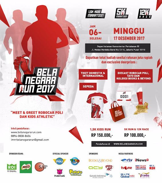 Poster Bela Negara Run 2017