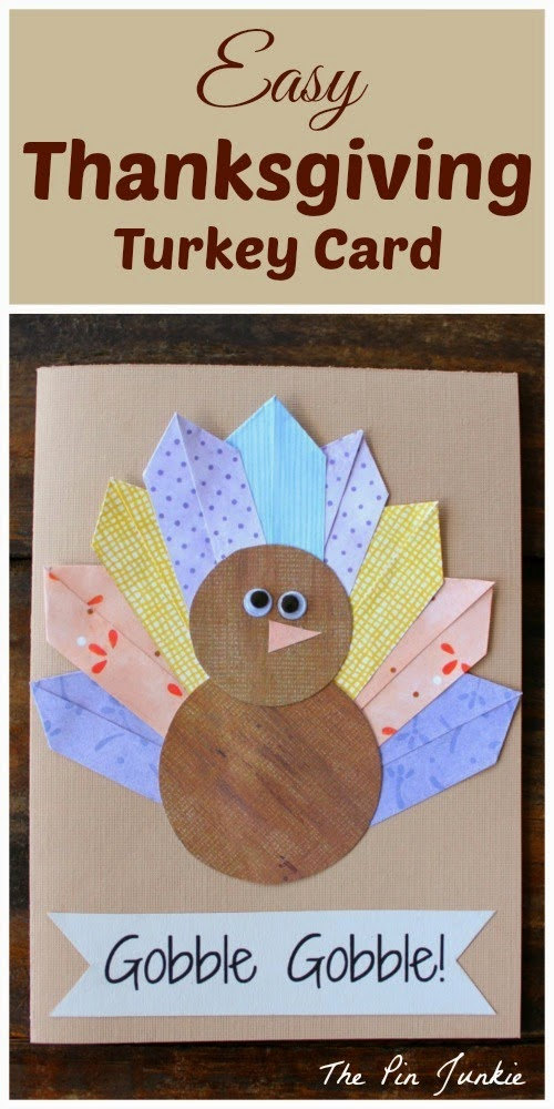 Thanksgiving Turkey Card by The Pin Junkie