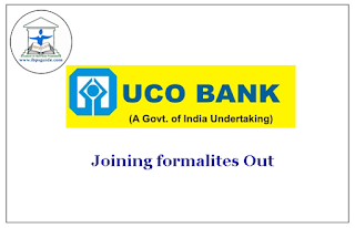 UCO Bank released the joining formalities for Specialist Officers (I.T) Post