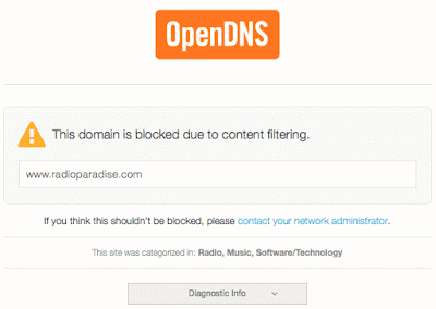 OpenDNS: This domain is blocked due to content filtering.