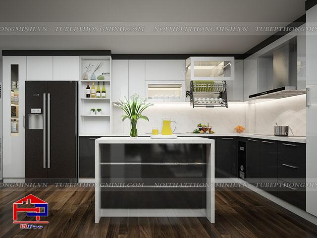 Mẫu thiết kế tủ bếp nhựa acrylic -5