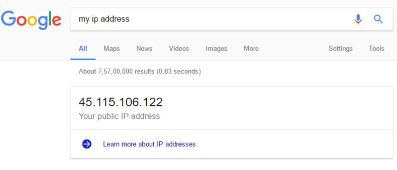 check ip address using google,ip address lookup,