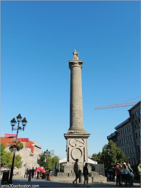 Plaza Jacques Cartier: Columna de Nelson