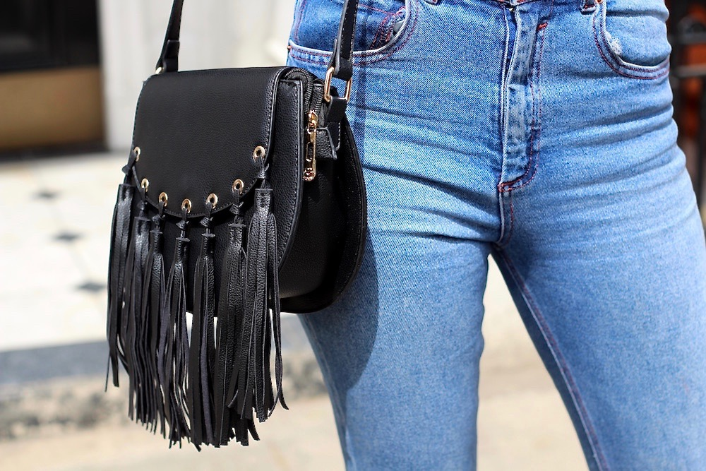 chloe dupe fringe bag peexo fashion blogger