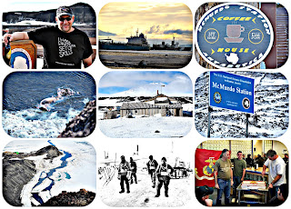 Storms, McMurdo Station, and the Marine Corps Birthday cake cutting all in Antarctica