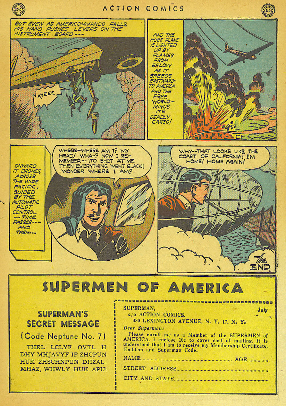 Read online Action Comics (1938) comic -  Issue #74 - 47