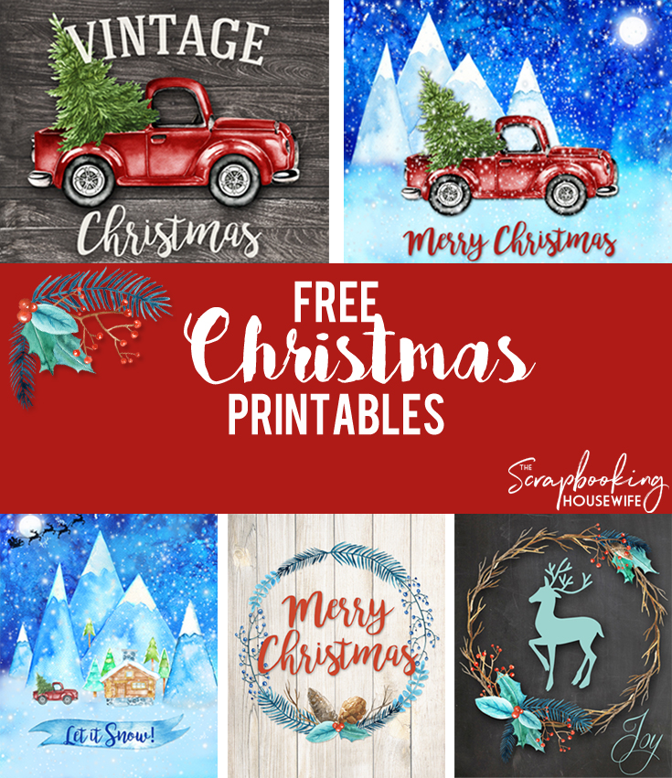 Vibrant image in free printable christmas art
