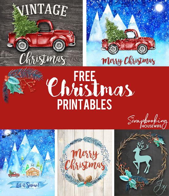 Free Christmas Printables by Ellabella Designs