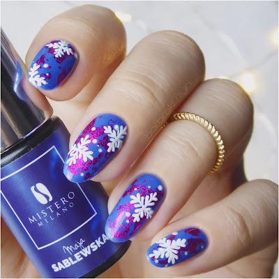 zimowe paznokcie hybrydowe
