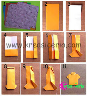 Tutorial cara membuat origami baju kemeja