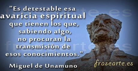 Frases célebres de Miguel de Unamuno