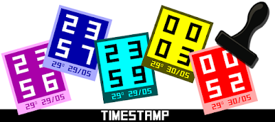 Timestamp - watchface para Pebble by dPunisher
