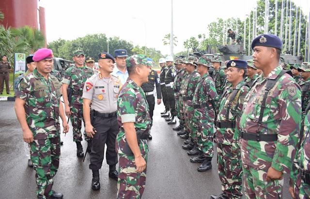 Antipasi Gesekan Jelang Pilpres, Dandim 0418 Palembang Gelar Apel Pengamanan Pemilu