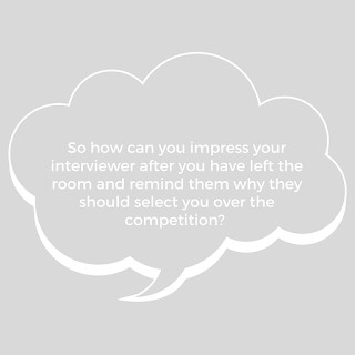 How can you impress your interview after the interview is finished?