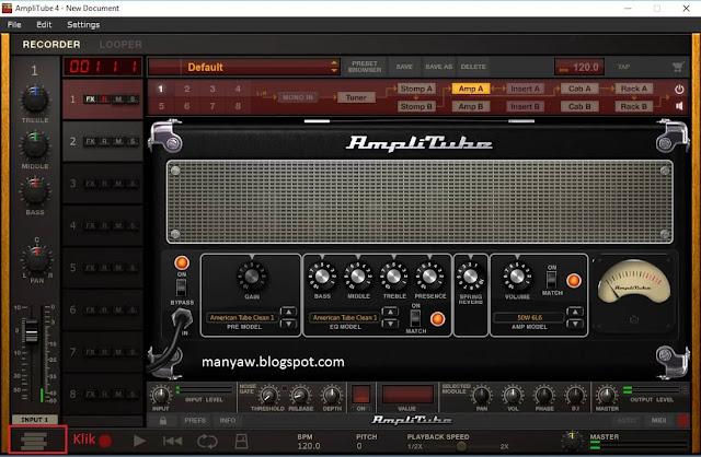 Cara Memutar MP3 di Aplikasi AmpliTube, Memasukan Lagu ke AmpliTube