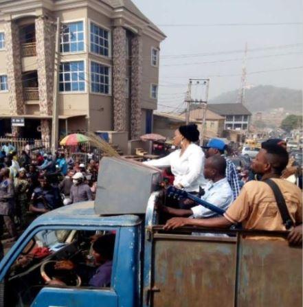 News In Pictures: Ekiti APC Protests Against Fayose's Verbal Attacks On Buhari