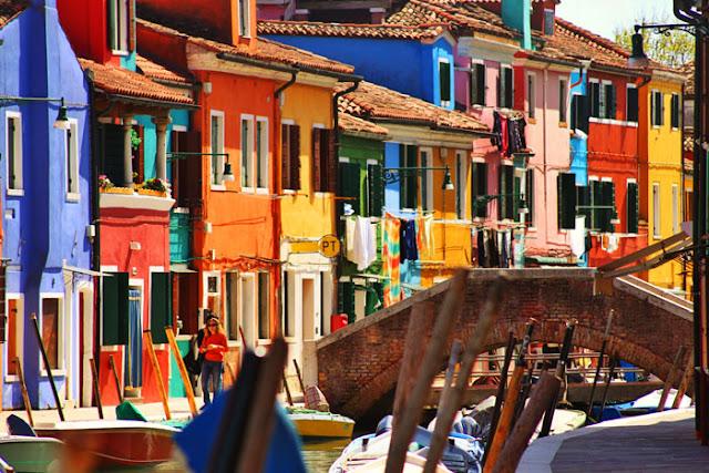 Sobre a Ilha de Burano em Veneza