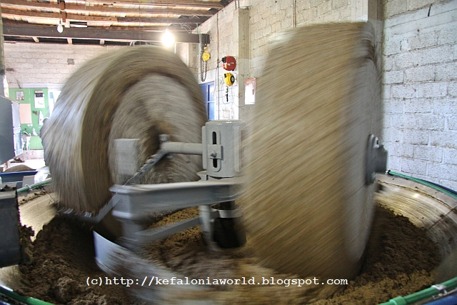Olive Press Millstones at Faraklata, Kefalonia