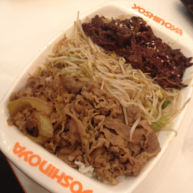 beef and yakiniku at Yoshinoya