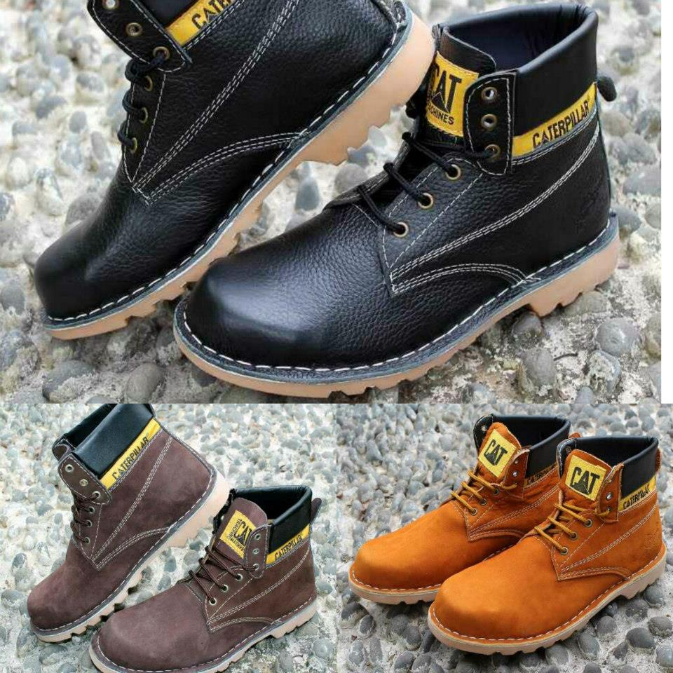 Sepatu Caterpillar Safety Shoes Boots Nicky Male Fashionable Trendy