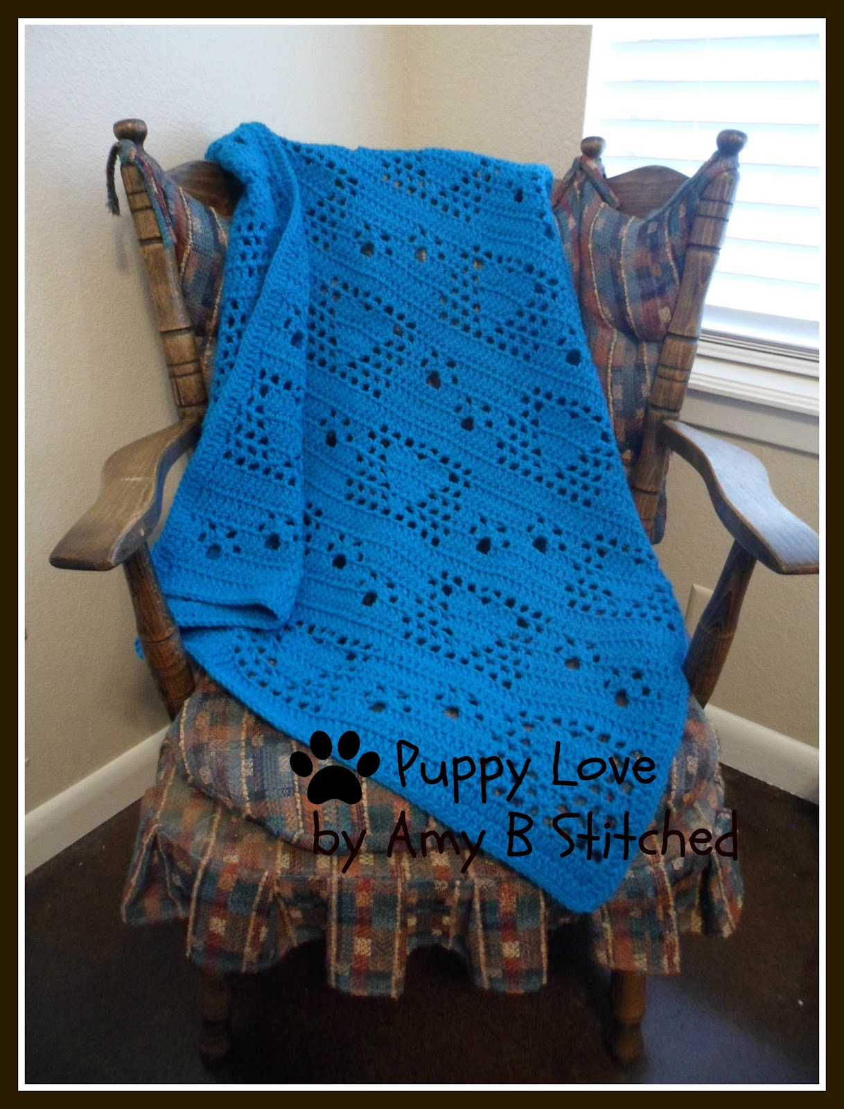 A Stitch At A Time for Amy B Stitched: PUPPY LOVE Crochet Afghan ...