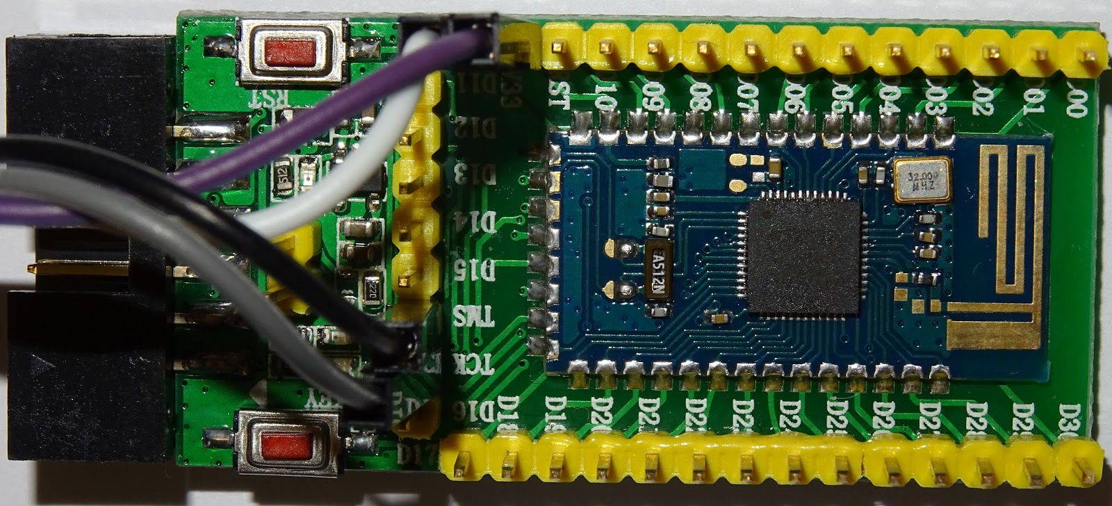 pcbreflux: nRF52832: first steps with ST-Link V2 and openocd