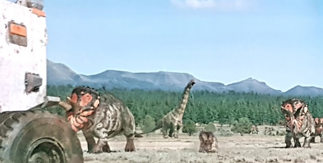 Dinosaurs in the Wild Triceratops on the Montana Plains
