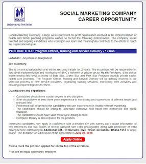 Job Circular 2019-Social Marketing Company Image
