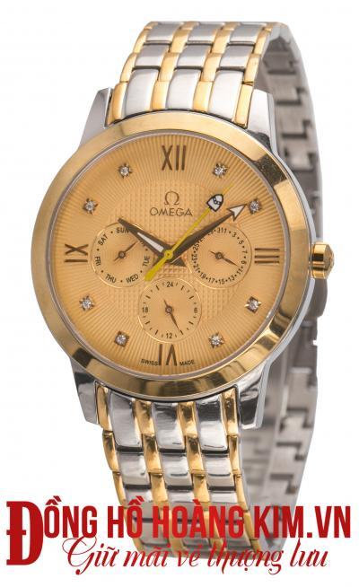 đồng hồ nam dây thép omega cao cấp