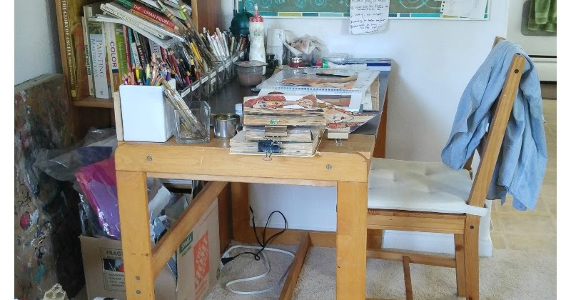 from chaos to order at my sketching desk art studio overhaul
