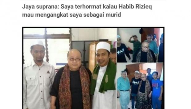 Wow, Pendiri MURI Ingin Belajar Kerukunan Umat Beragama Pada Habib Rizieq