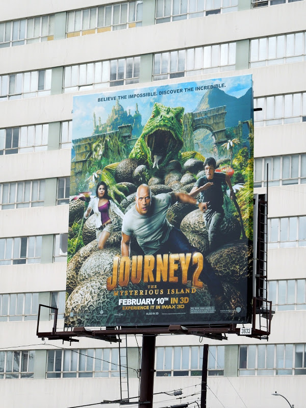 Journey 2 Mysterious Island movie billboard