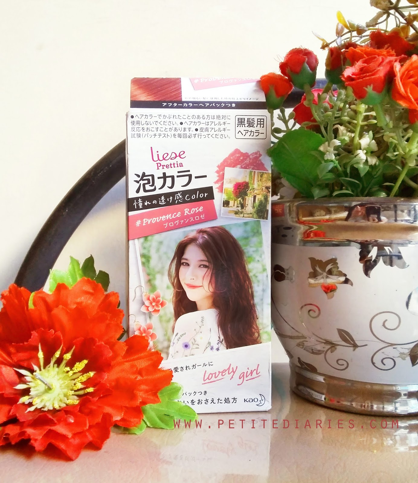 review hair colour Liese prettia provence rose