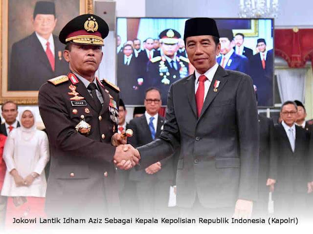 Jokowi Lantik Idham Aziz Sebagai Kepala Kepolisian Republik Indonesia (Kapolri)