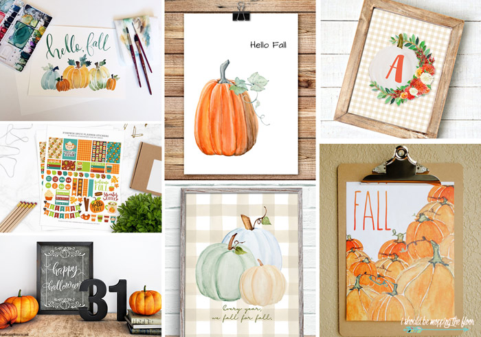 Pumpkin Printables for the Home