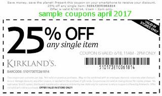 Kirklands coupons for april 2017