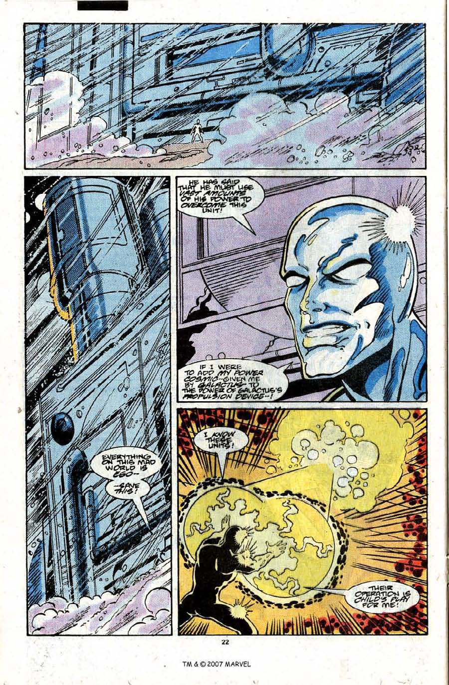 Read online Silver Surfer (1987) comic -  Issue #22 - 24