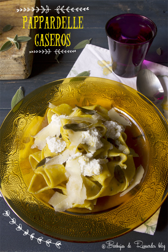 Pappardelle de calabaza con mantequilla de salvia, queso ricotta y pecorino