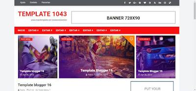 Template Para Blogger 2 Colunas Vermelho e Branco #1043