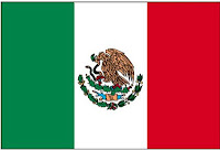 Méxique, le drapeau.