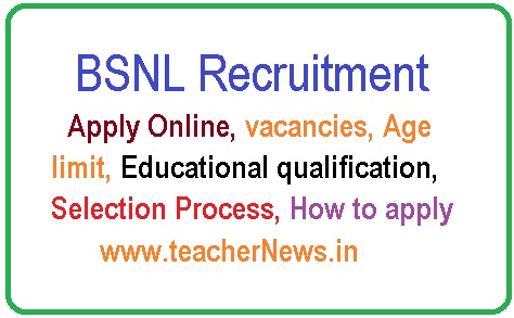 BSNL Management Trainee Jobs 2019 Online Apply for 300 Vacancies of MT (Telecom Operations) Posts