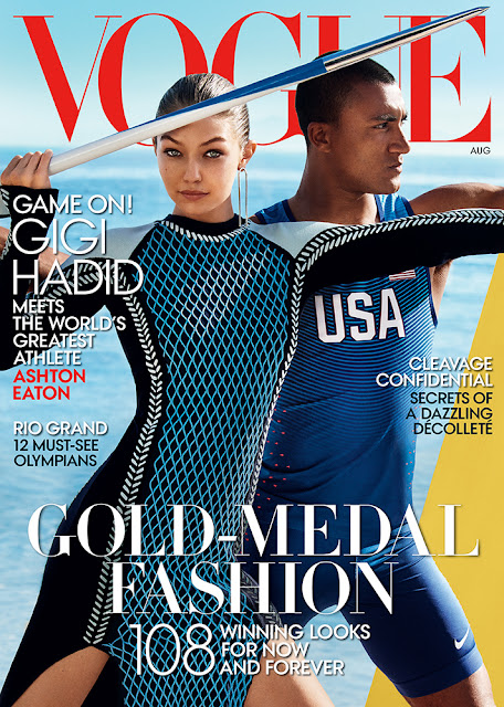 Fashion Model, @ Gigi Hadid & Ashton Eaton Vogue US ,August 2016