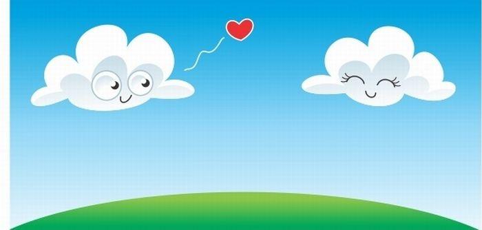 KESEHATAN Animasi Awan jatuh cinta